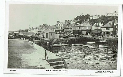 Cornish Post Card Real Photo The Harbour St. Mawes