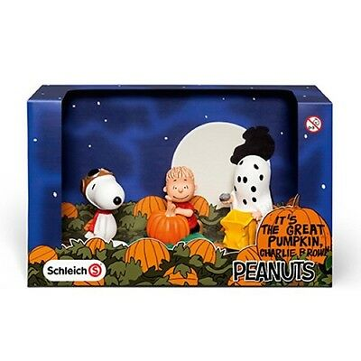 Peanuts Scenery Pack Halloween by Schleich - Charlie Brown, Snoopy - 22015