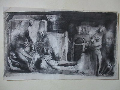 Old Unframed Erotic Drawing