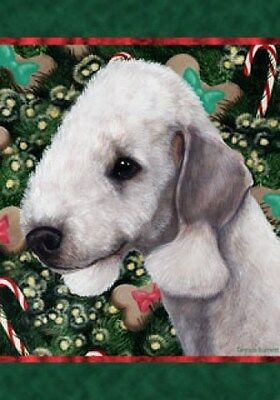 Large Indoor/Outdoor Holiday Flag - Bedlington Terrier 14131
