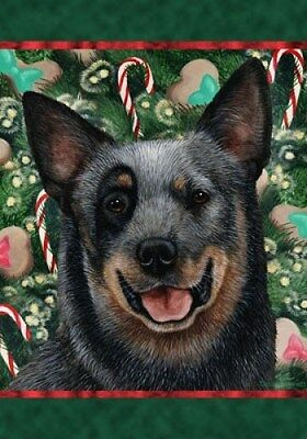 Large Indoor/Outdoor Holiday Flag - Blue Australian Cattle Dog 14072