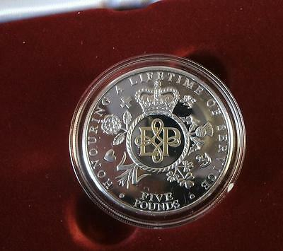 2011 Silver + Gold Piedfort Proof 5 Pounds Lifetime of Service TDC Coin with COA