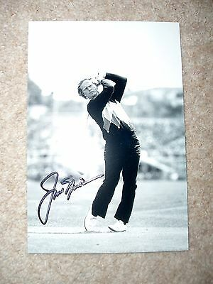 JACK NICKLAUS - US GOLF LEGEND - ORIGINAL SIGNED 6 x 4 THE OPEN PHOTO - WITH LOA