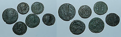 ANCIENT ROME :  6 X BRONZE COINS -  All with Detail