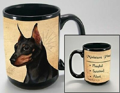 15 oz. Faithful Friends Mug - Miniature Pinscher MFF116 IN STOCK