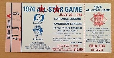 1974 Baseball All-Star Game Ticket Stub-Stan Musial Collection-Pittsburgh (Nm)