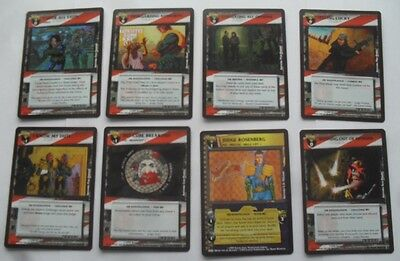 Dredd the Card Game - eight cards, including Judge Rosenberg