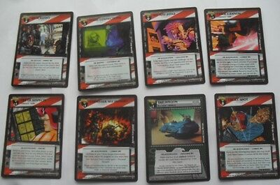 Dredd the Card Game - eight cards, including Pat Wagon