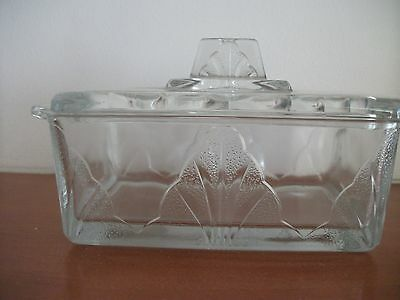 Vintage 1960's Glass Butter Dish