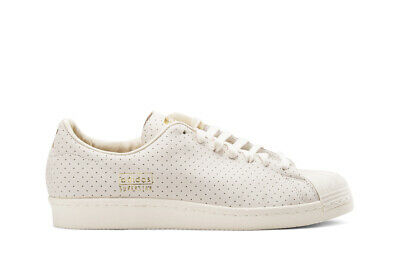 0bd04ce7ba adidas Originals Men's Superstar 80s Clean Trainers Perforated Leather  Shell Toe