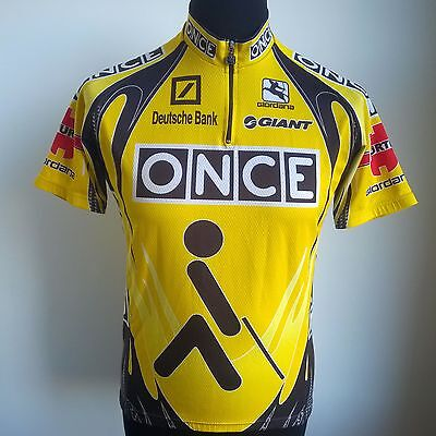 Team Once Deutshche Bank 1999 Pro Tour Cycling Shirt Giordana Size Adult M