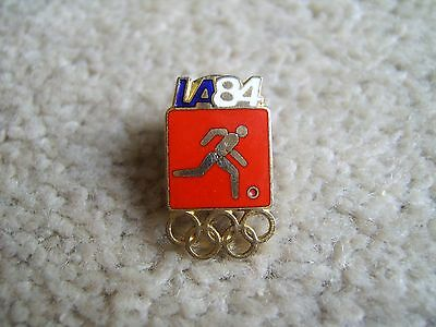 LA 84 Soccer event badge / pin 1984 Los Angeles Olympic Games