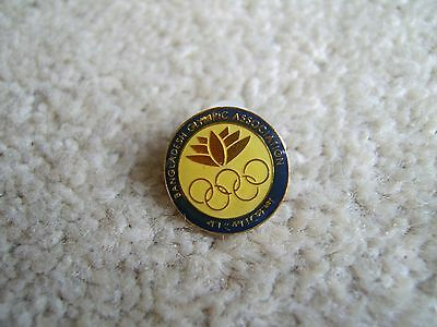 Bangladesh Olympic Association metal and coated enamel badge / pin