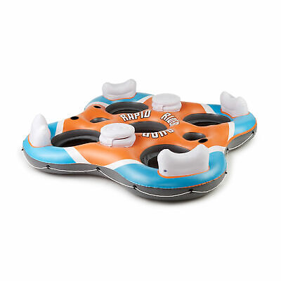 Bestway 101-Inch Rapid Rider 4-Person Floating Island Raft w/ Coolers | 43115E