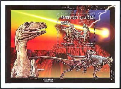 Niger 1996 Dinosaurs/Reptiles/Prehistoric Animals/Nature/Comet 1v m/s (s2045)