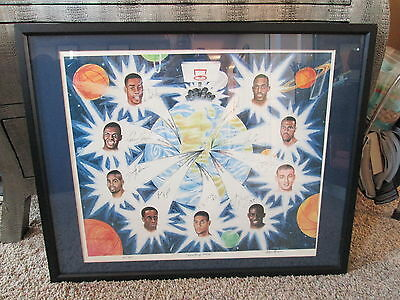 1997 NBA Draft Picks Signed by 9 Duncan,Billups,Mercer,etc. -SGC Authenticated