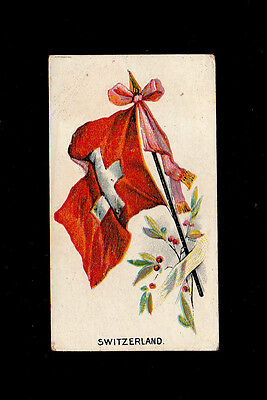 "Jas. Biggs 1903 Scarce (Flags) Card "" Switzerland -- Flags & Flags With Soldiers"