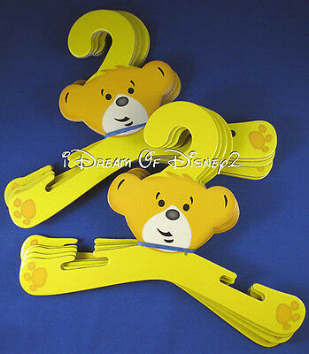 BUILD-A-BEAR YELLOW HANGERS (STYLE 2) for TEDDY OR DOLL CLOTHES SET OF 10 NEW
