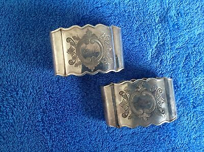 Pair of Silver Plated Serviette Holders