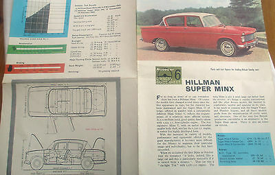 The New Hillman Minx Owner's Handbook Series 111B 1960 Rootes Group (3)