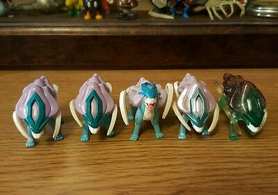 Complete Pokemon Tomy Suicune Collection - Insanely Rare. Clear, Pearl Variants