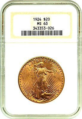 1924 $20 NGC MS63 - Generic Gold Double Eagle - Generic Gold Double Eagle