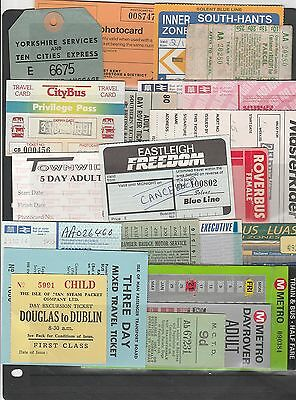 Card tickets. Various operators, 20 tickets.