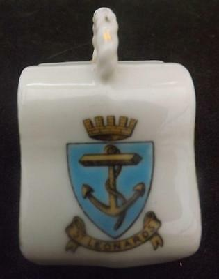 Crested Ware St Leonards Hastings Crest Cheese Dish Gemma CW335(117)