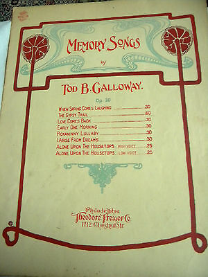 """Vintage Sheet Music """"The Gypsy Trail"""" 1897"""