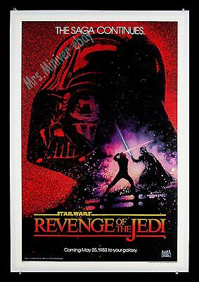 Star Wars REVENGE OF THE JEDI Movie Poster TEASER Museum Linen-Backed NM ROLLED!