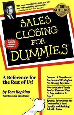Sales Closing For Dummies by Hopkins, Tom Paperback Book The Cheap Fast Free