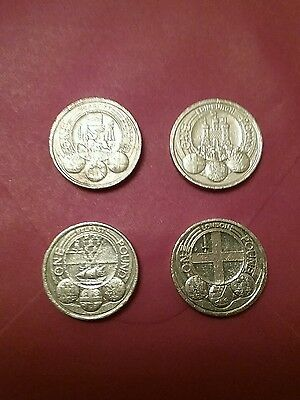 Full Set * 2010/11£1 coin *RARE*  4 x one pound coin capital cities series