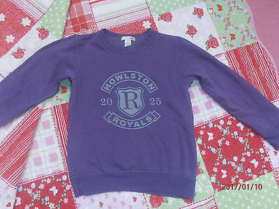 *H&M*Pullover*Sweat-Shirt*Gr.122/128 in lila mit Print