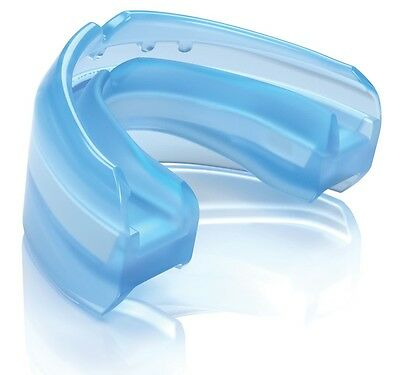 Shock Doctor Adult Ultra Double Braces Convertible Mouthguard, Translucent Blue