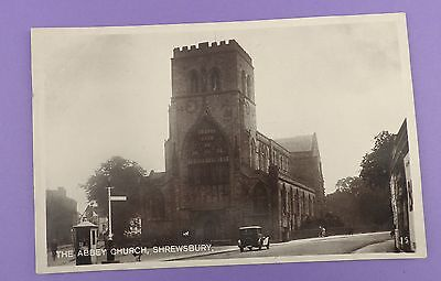 The Abbey Church, Shrewsbury - Vintage Unused Postcard