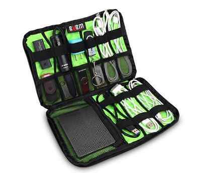 Large Cable Organizer Travel Bag can put Hard Drive Cables USB Flash Drives Gift