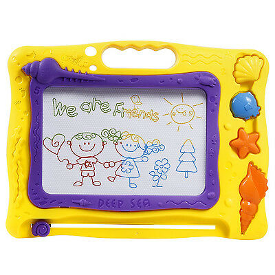 TONOR Magnetic Drawing Board Erasable Doodle for Baby Kids Birthday Gift Yellow