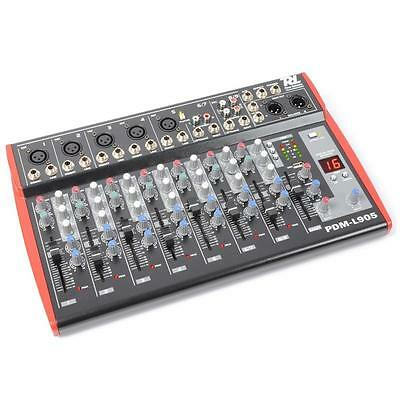 Power Dynamics 9 Kanal Pa Mixer Studio Mischpult Home Record Usb Dsp Mikro In