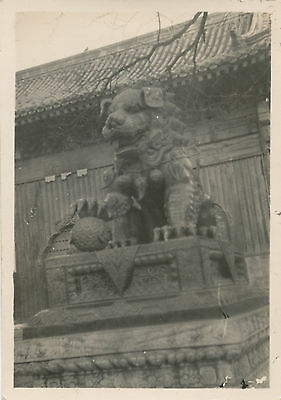 end WWII 1945 US Navy sailor's Peking China Photo statue