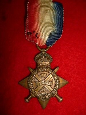 WW1 1914 Star Medal to a Farrier Sergeant, Royal Engineers, from Edinburgh