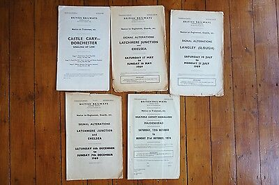 1968 - 1969 Western Region Railway Signal Box Signalling Diagrams Castle Cary