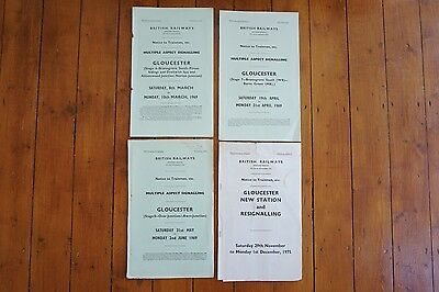 1968 - 1975 Gloucester Railway Signal Box Signalling Diagrams Stages 6 7 8