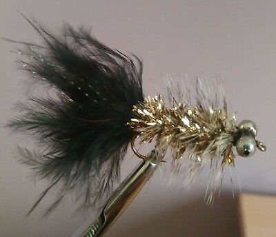 Humungus Black Trout Lures Trout Buzzers Fly Fishing Trout Flies