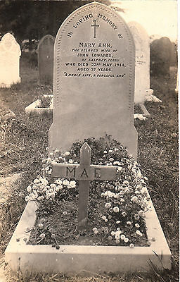 Grave Of Mary Ann Edwards  Of Saltney Ferry   Rp