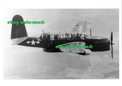 "5""x 7"" glossy US Navy Consolidated TBY Sea Wolf carrier airplane WW2"