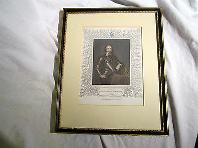 An Antique Framed Engraving Of King Charles The First Ob. 1648