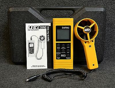 UEi Air Flow Meter DAFM3 Anemometer/Psychrometer ~ Great Condition w/Case