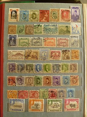 Middle Eastern old stamp collection, several valuable sets, stamps.