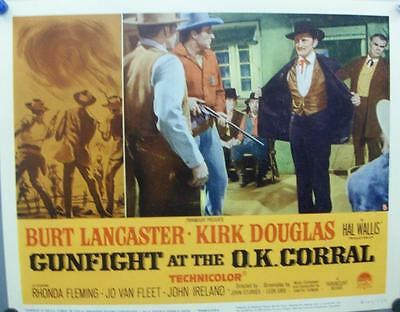 Burt Lancaster Kirk Douglas Original Western Gunfight At Ok Corral Us Lobby Set