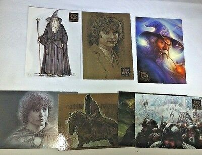 Set of 7 Cards from Lord of the Rings Masterpieces Trading Cards